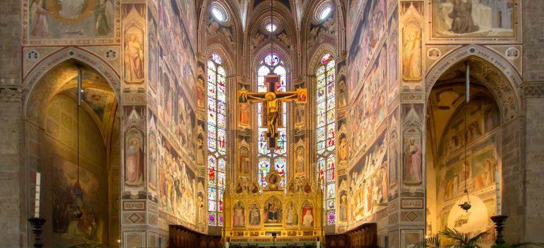 Interior de la Basilica de Santa Croce
